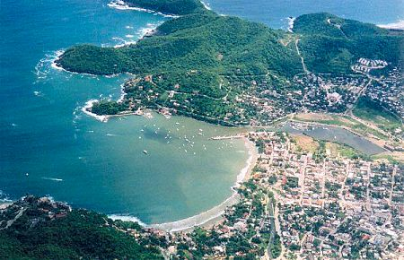 Old Zihuatanejo aerial view