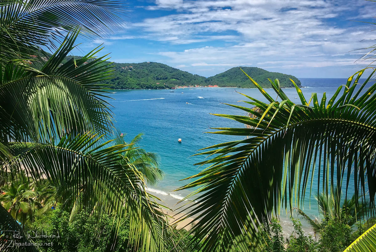 View of Playa Las Gatas from Playa La Ropa, Zihuatanejo, Mexico